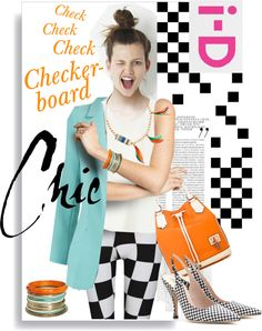 """""""Checkerboard Chic"""" by ivansyd ❤ liked on Polyvore"""