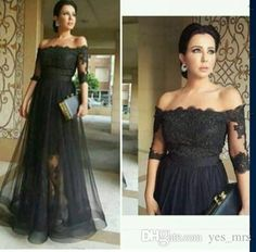 2016 New Vestidos Evening Dresses Sexy Mermaid Black Lace Half Sleeves Off Shoulder Illusion Skirt Long Cheap Formal Party Prom Gowns Online with $128.8/Piece on Yes_mrs's Store | DHgate.com
