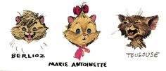 Concept art for The Aristocats Kittens