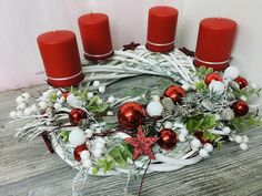 Christmas Tree Decorations, Christmas Wreaths, Table Decorations, Holiday Decor, Advent Wreath, Bunt, Elegant, Shabby, Home Decor