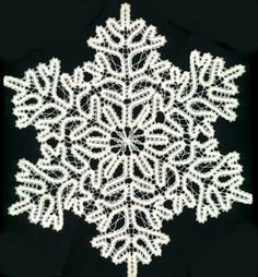 Bruges lace snowflake - do in crochet? Knit Or Crochet, Irish Crochet, Crochet Motif, Crochet Doilies, Crochet Stitches, Crochet Patterns, Bruges Lace, Bobbin Lace Patterns, Lacemaking