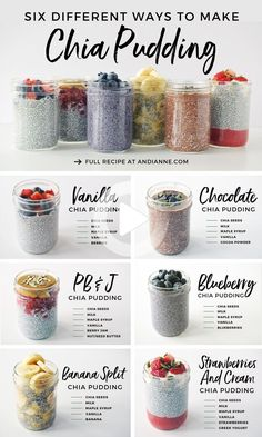 Oats Recipes, Pudding Recipes, Snack Recipes, Cooking Recipes, Recipes With Chia Seeds, Chia Seed Recipes Easy, Brunch Recipes, Meal Prep Recipes, Chia Seed Recipes For Weight Loss