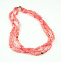 Vintage Angel Skin Coral 14K Bracelet. $75.00, via Etsy.