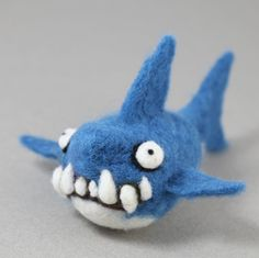 "$36. 4"" long Large Needle felting Shark kit by woolbuddy on Etsy"