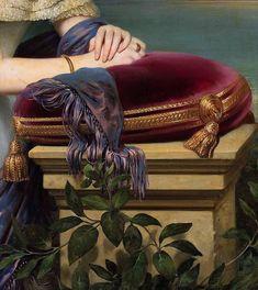 Detail from Portrait of Alexandra Potocka by Joseph Desire Court