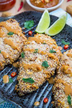 Crispy Baked Thai Peanut Sauce Coated Chicken Recipe on Yummly