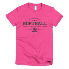 PLAYRS Club Women's Softball T-Shirt – Dark