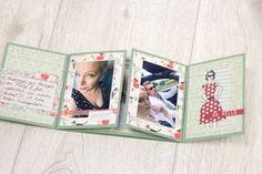 Minialbum aus einem Bogen Cardstock | One Sheet Minibook Tutorial von Melanie Hoch für www.danipeuss.de Scrapbooking Stempeln Mixed Media