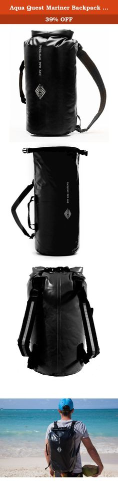 Aqua Quest Mariner Backpack - 100% Waterproof - 20 L - Black. The Aqua Quest 'Mariner' series is available in 10, 20, and 30 L sizes. Inspired by water sports, but designed for anybody who goes outside, even if it's only to get to your car in the pouring rain. All three sizes feature the same classic design, with one main waterproof compartment, and padded adjustable shoulder straps for maximum comfort. Now you can focus on having fun, instead of worrying about your gear!.