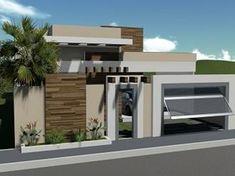 Our Top 10 Modern house designs – Modern Home Modern Fence Design, Modern House Design, Facade Design, Exterior Design, Modern Exterior, Interior And Exterior, Porte Design, Boundary Walls, House Plans