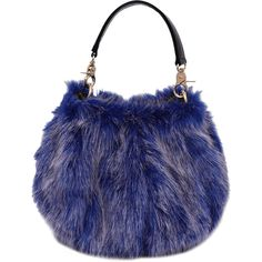 Royal Faux Fur Multi Function Handbag (2.765 HUF) ❤ liked on Polyvore featuring bags, handbags, tote bags, handbag purse, man bag, faux fur tote, blue tote bags and purse tote bag