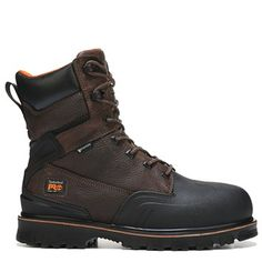 Men's 8. Timberland WaterproofTimberland ProMens BootBoots StyleLeather  ShoesBrown LeatherSteel Toe Work ...