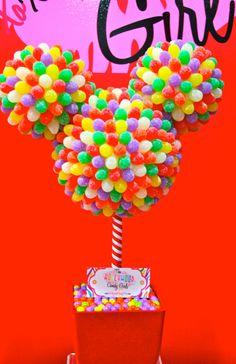 Disney Gumdrop Mickey Mouse Candy Topiary Otima ideia para fazer de aniversário