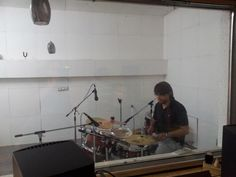 Trizya Tracking Drums at the Studio