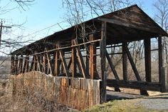 One of the covered bridges around Bedford, Pennsylvania  (March 2012)