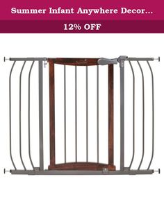 Summer Infant Anywhere Decorative Walk Thru Baby Gate. Create safe barriers throughout your home without sacrificing style. Sleek design made from quality metal and hardwood. Adjustable to accommodate openings in virtually any hall or doorway in the home. Installation hardware included for top of stair use.