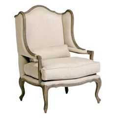 Julien Belgian Style Wingback French Provincial Arm Chair | eBay