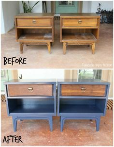 These nightstands are awesome, I love furniture that includes paint and wood. Great color too!