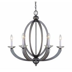 Savoy House Forum Silver Sparkle Six Light Chandelier