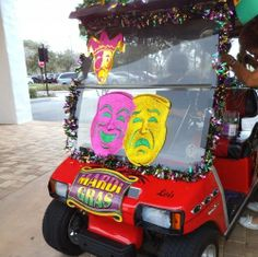 Decorate a Golf Cart for Mardi Gras