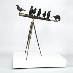 The Birds Metal resin sculpture.