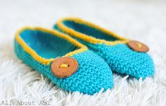 Crochet Slippers, made all in one piece: free pattern