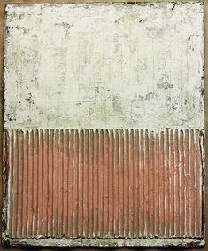 2014 - 38.5  x 32 cm - Mischtechnik, Wellpappe,Holzreste auf Holzbrett  ,abstrakte,  Kunst,    malerei, Leinwand, painting, abstract,      ...