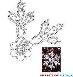 Misc motifs, snowflakes, etc - Снежинки; May 2011 - lee ann hamm - Веб-альбомы Picasa Crochet Snowflake Pattern, Crochet Stars, Crochet Snowflakes, Thread Crochet, Crochet Motif, Irish Crochet, Crochet Designs, Crochet Doilies, Crochet Patterns