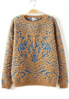 Animal print sweater #TigerPrint