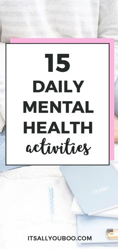 Looking for good daily mental health habits? Click here for 15 daily activities to improve mental health and create positive habits from top experts. These mental health tips are perfect for dealing with uncertainty, stress, anxiety, or worry due to a crisis like the pandemic. #MentalHealth #MentalHealthTips #MentalStress #MentalWellness #SocialDistance #CopingSkills #StaySane #Anxiety #Depression #Wellness #SelfCare #StressRelief #ItsAllYouBoo #StuckAtHome #StayCalm #StuckInside #StayAtHome Mental Health Activities, Daily Activities, Improve Mental Health, Good Mental Health, Coaching, Understanding Anxiety, Anxiety Relief, Coping Skills, Mindful Living