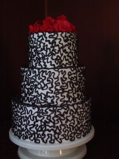 black wedding cake | Black and Red Wedding Cakes - Project Wedding Forums
