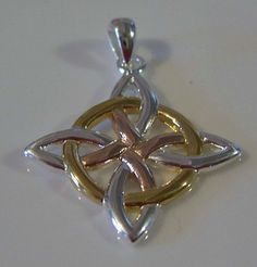 - Quaternary Four Point Eternity Knot Pendant - in .925 Sterling Silver. - Four Directions - Four Elements - Four Seasons - Eternity. - This item was created out of the finest sterling silver with 18k