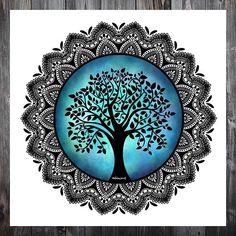 I made a tree of life mandala for the prompt nature mandala of the 🌳🌳 I hope you like this tree of life as much as I… Mandala Art Lesson, Mandala Doodle, Mandala Artwork, Mandala Painting, Zen Doodle, Doodle Art Drawing, Cool Art Drawings, Zentangle Drawings, Mandala Drawing