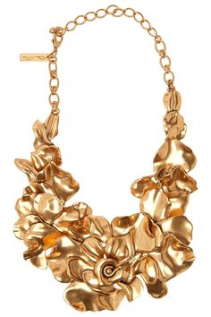 Rose Petal Collar Necklace By Oscar de la Renta @ http://www.boutique1.com/