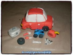 Mechanic Cake, Edible Cake, Polymers, Cupcake Toppers, Preserves, Planes, Fondant, Trains, Icing