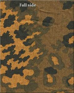 german ww2 SS-Eichenlaubmuster, autumn-winter variant 1943-1945 Military Paint, Military Camouflage, Camouflage Clothing, Army Camo, Ww2 Uniforms, German Uniforms, Military Uniforms, Camo Wallpaper, Tejidos