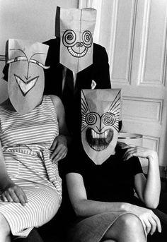 Saul Steinberg's Mask series in the Foam Magazine by Inge Morath, 1962 - Ananas à Miami Inge Morath, Saul Steinberg, Creation Art, Art Japonais, Feather Painting, Art Brut, Art Inspo, Creepy, Art Projects