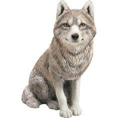 Sandicast Original Size Gray Wolf Figurine, As Shown Wolf Sculpture, Animal Sculptures, Garden Sculptures, Wolf Stuff, Wolf Pup, Wolf T Shirt, Exotic Pets, Exotic Animals, Kitten