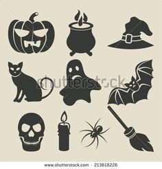 Halloween icons set - vector illustration. eps 8 - stock vector