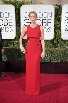 Jennifer Lawrence in Dior.  Check out the red carpet style from the biggest awards show (so far) of 2016.