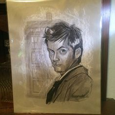 Doctor Who Dr Who 10 th doctor David Tennatt commission  February 2015   www. Etsy.com/Shop/ChrisHerndonArt / ORIGINAL ARTWORK GIFTS Twin Peaks Artwork Dr Who, monsters, frankensteins bride, Christopher Herndon,