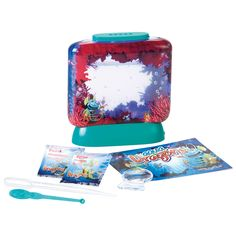 Grow your own Aqua Dragons! This deluxe kit includes LED lights in the base and a magnifier to see your hatchlings earlier.