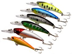 Colorful fishing lures
