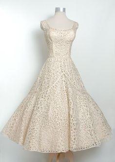 1950s lace dress.