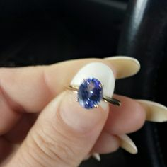 14k gold Tanzanite ring 1.7 ct Tanzanite ring set in yellow gold size 7. Such a feminine ring....so much sparkle!!! Jewelry Rings