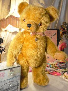 """18"""" TEDDY BEAR  KNICKERBOCKER ANTIQUE 1940s #KNICKERBOCKER #AllOccasion"""
