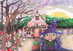 Hansel and Gretel inspired Original Acrylic Painting £95.00