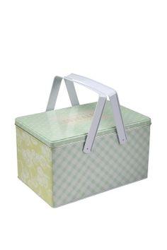 picnic tin box FLORAL
