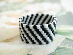 Peyote Ring   Beadwork Seed Bead Ring Band от MadeByKatarina
