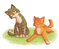 Baby Leafpool and Squirrelflight by Cape-Cat.deviantart.com on @DeviantArt